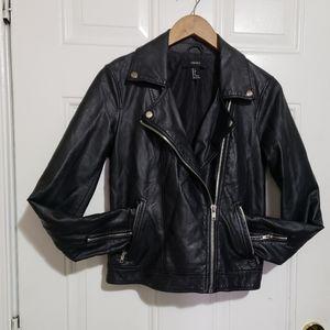 Forever 21 faux leather biker Jacket black
